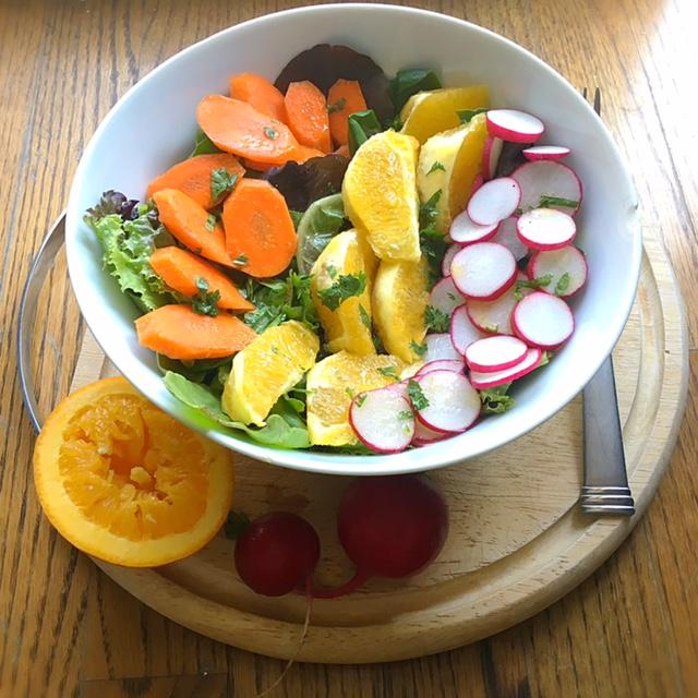 Orange, Radish and Carrot Salad