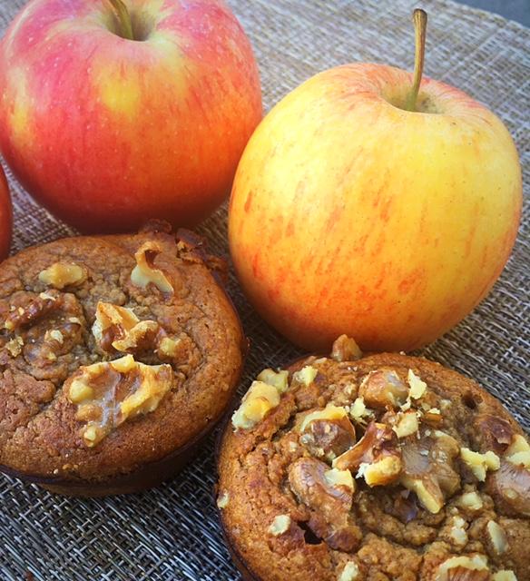Apple Cinnamon Almond Muffins