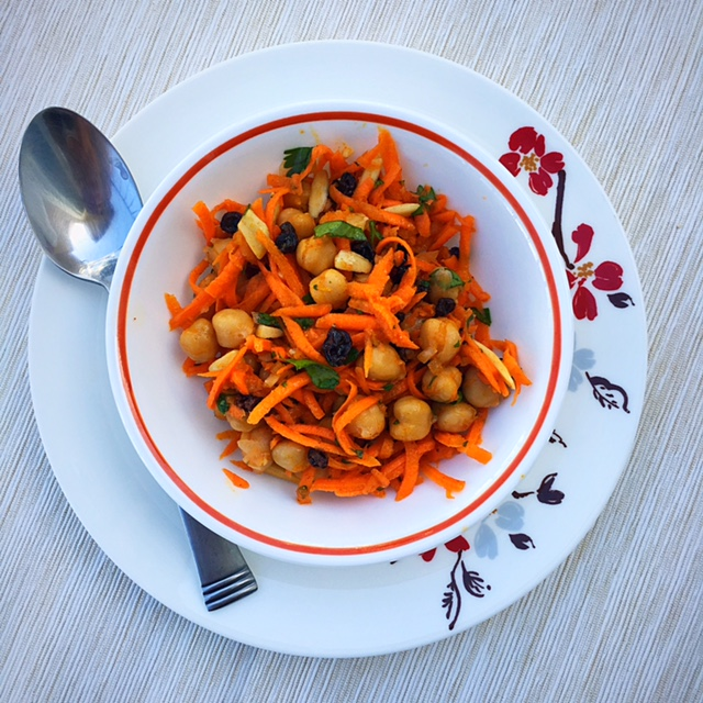 Carrot, Chickpea Moroccan Salad