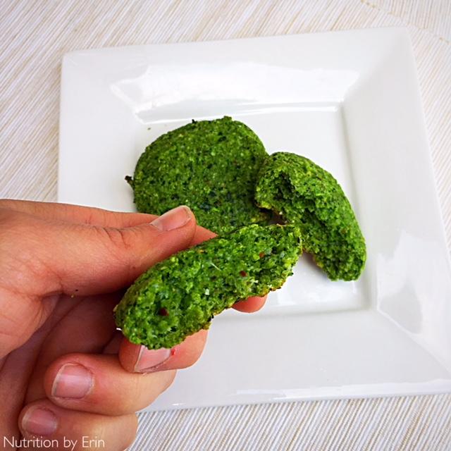 Kale Parmesan Patty_broken in half