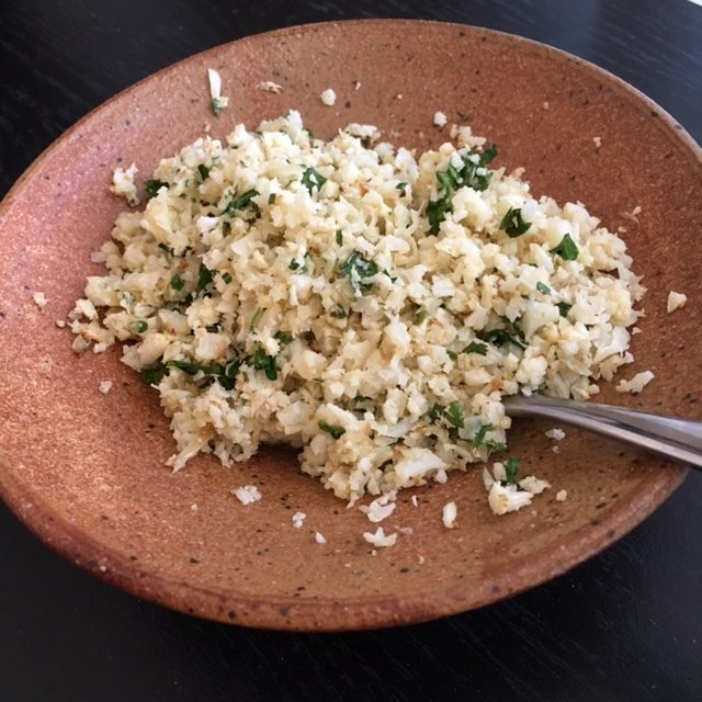 Cauliflower Rice_in a bowl