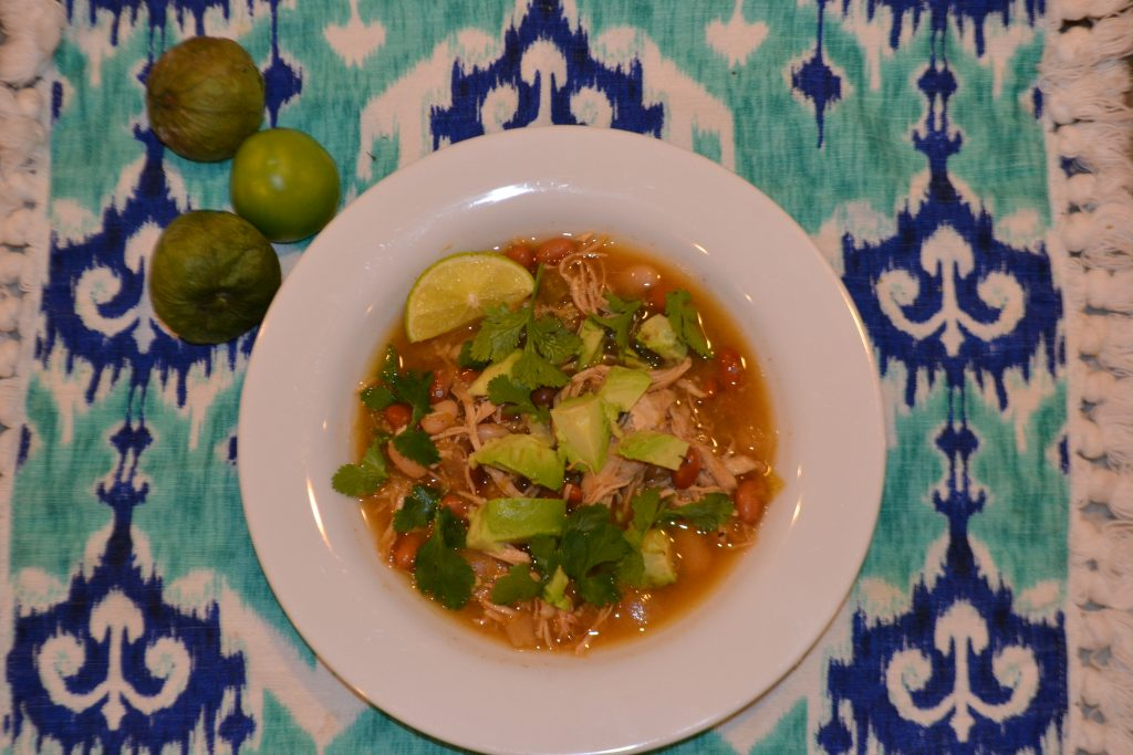 Hearty Chicken Chili- plated chili bowl